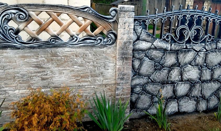 составление натюрморта покраска бетонных заборов фото также является идеальной